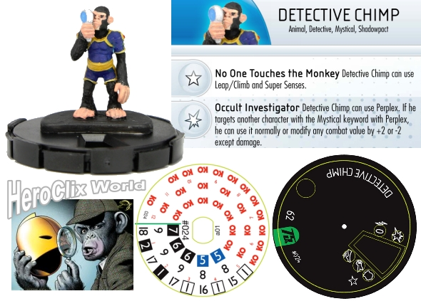 HeroClix DC 75th Spoilers Detective Chimp