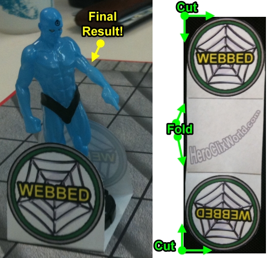 HeroClix World Web Token Sample