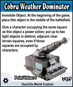 HeroClix Cobra Weather Dominator