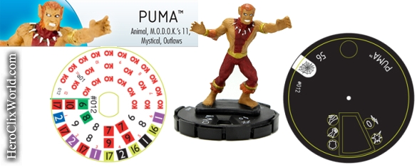 HeroClix Puma Web of Spiderman