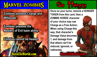 Marvel Zombies Cards HeroClix