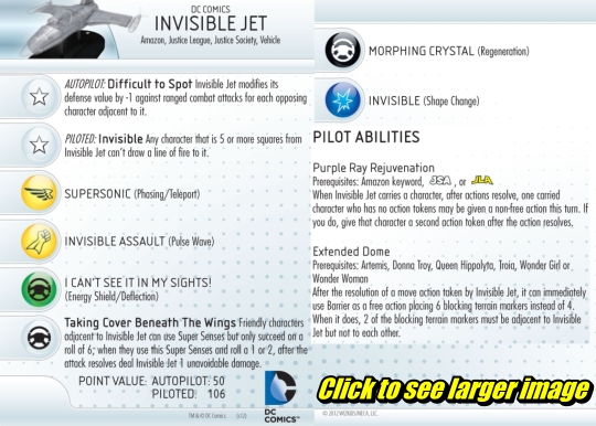 Batman HeroClix Invisible Jet
