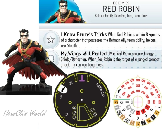 HeroClix World Dial Red Robin