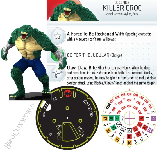 HeroClix Two Face Gotham City Strategy Killer Croc