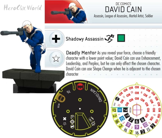 HeroClix Streets of Gotham Team Pack: David Cain