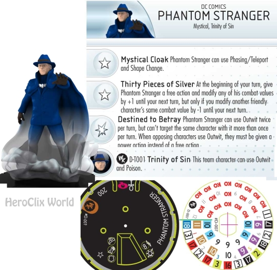 HeroClix Convention Exclusive Phantom Stranger Dial