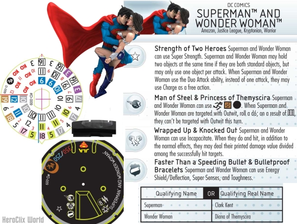 Superman and WonderWoman HeroClix
