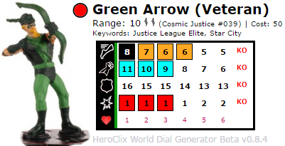Green Arrow HeroClix