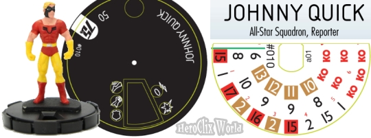 HeroClix Johnny Quick Dial DC 75th