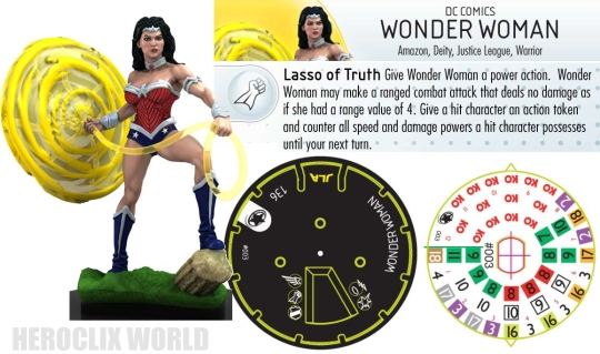 HeroClix Wonder Woman Dial Justice League