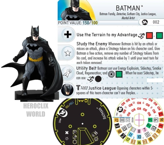 Justice League Strategy BatmanHeroClix Dial