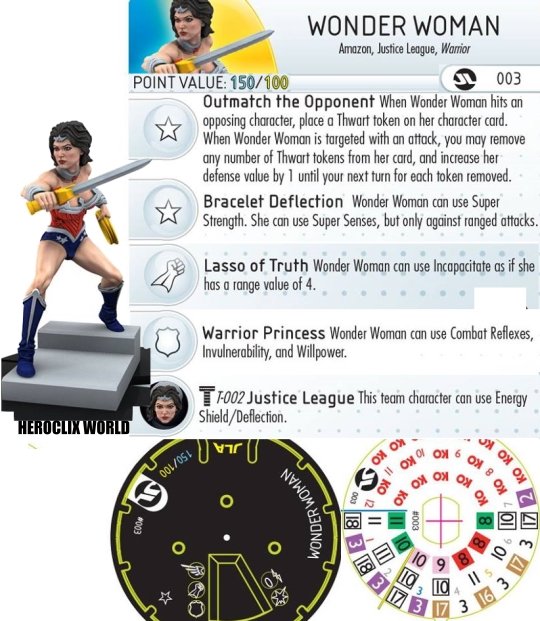 Justice League Strategy Wonder Woman HeroClix Dial