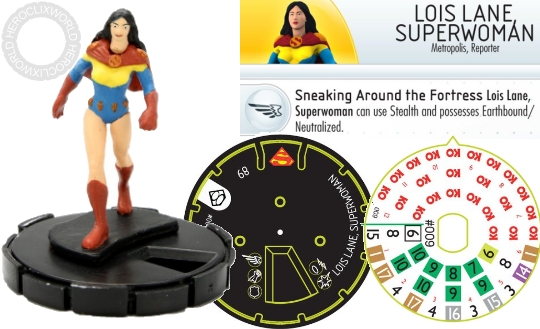 HeroClix Lois Lane Superman dial