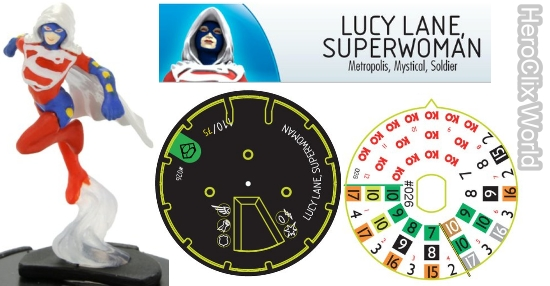 HeroClix Lucy Lane Superman dial