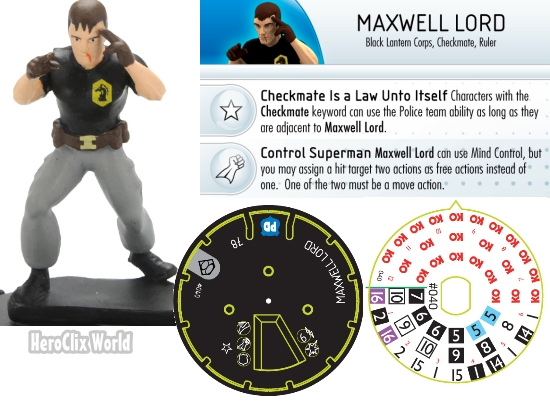 HeroClix Maxwell Lord dial