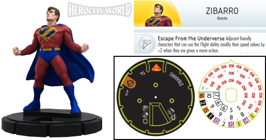 HeroClix World Bizarro Dial