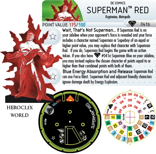 Superman Red HeroClix Dial
