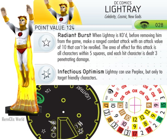 Lightray HeroClix Dial