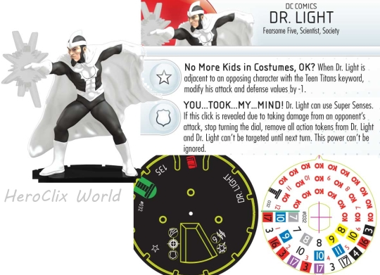 Dr Light HeroClix Dial