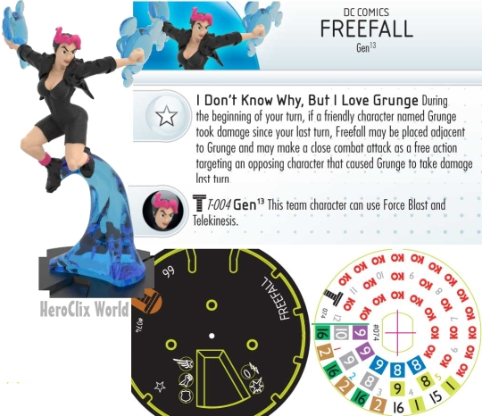 Freefall HeroClix Dial