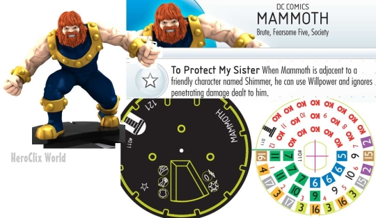 Mammoth HeroClix dial