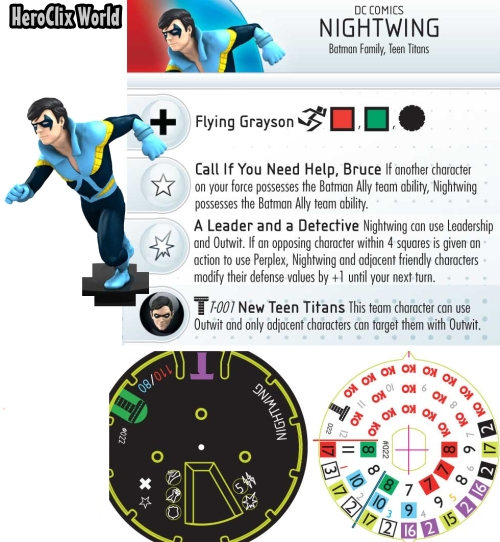 Nightwing HeroClix Dial