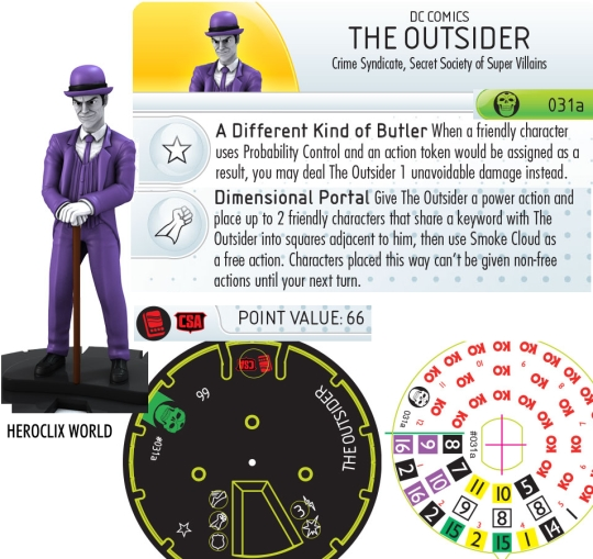 The outsider HeroClix figure