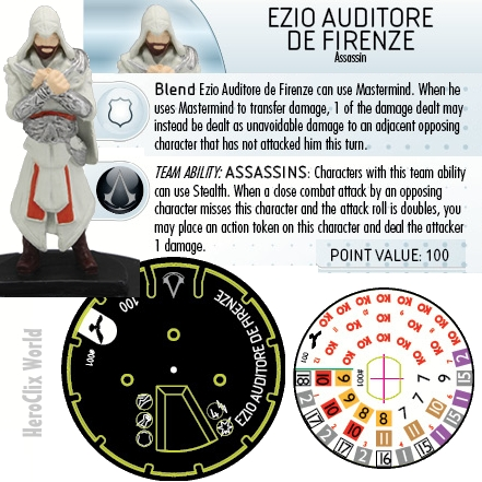 Assassin's Creed HeroClix Ezio dial