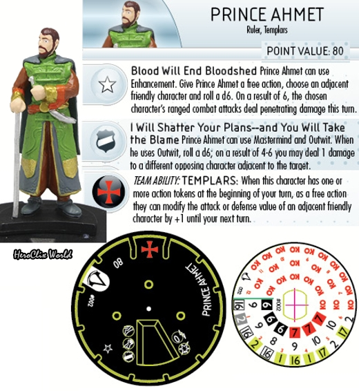 HeroClix Assassin's Creed Prince Ahmet Dial
