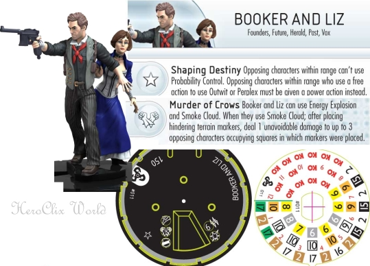 HeroClix Booker and Liz Dial