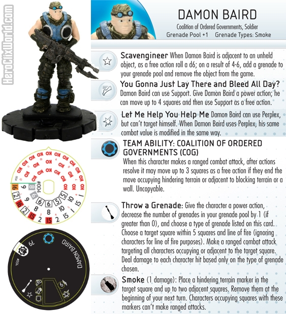 HeroClix Gears of War Baird