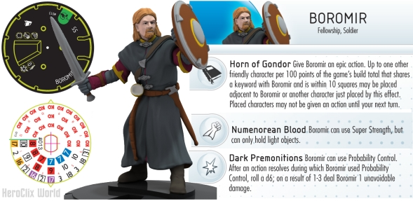 HeroClix Lord of the Rings Boromir