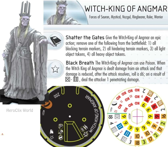 HeroClix Fellowship of the Rings Witc King