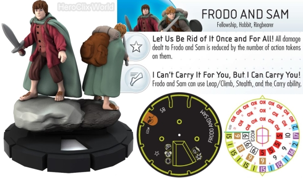 HeroClix Lord of the Rings Sam Frodo