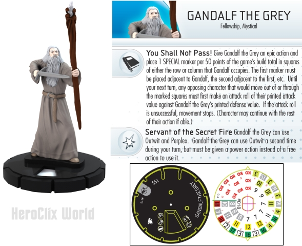 Gandalf the Grey LOTR HeroClix