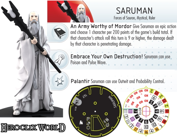 Lord of the Rings HeroClix Saruman