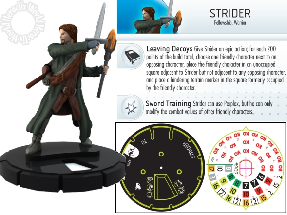 Lord of the Rings HeroClix Strider