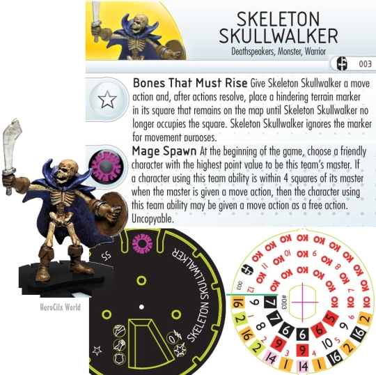 HeroClix Mage Knight Skeleton