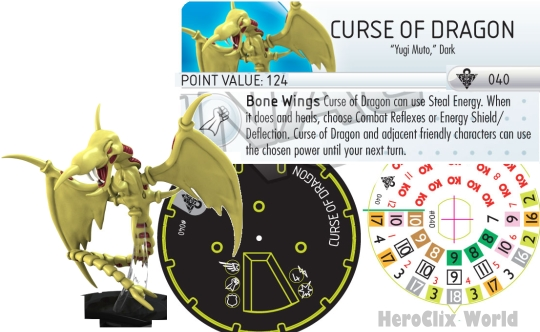 HeroClix Curse of the Dragon Yu gi Oh Dial