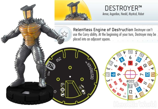 HeroClix Destroyer Dial