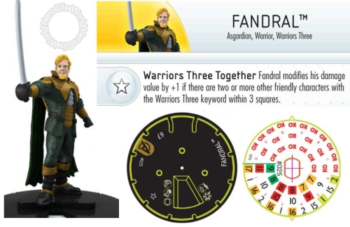 Marvel Avengers Fandral HeroClix Dial