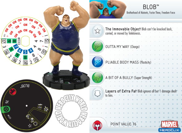 HeroClix World Exclusive Blob Dial Giant Size X-Men