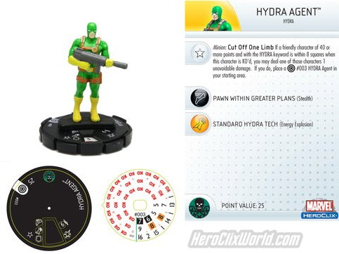 Hydra Agent HeroClix Previews
