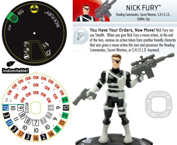 Nick Fury HeroClix preview