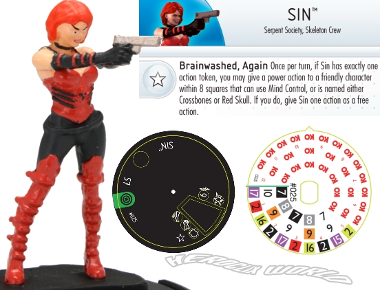 Heroclix World Sin Captain America Dial