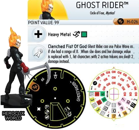 Ghost Rider Convention Exclusive HeroClix Dial