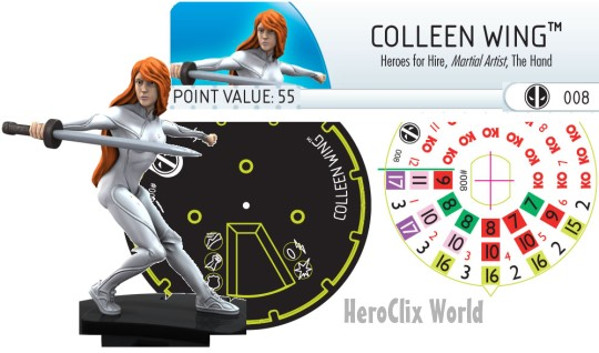 Deadpool HeroClix Colleen Wing Dial