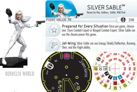 HeroClix Silver Sable Dial