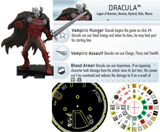 HeroClix Dracula Fear ItSelf Dial
