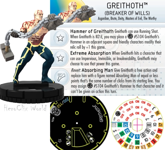 HeroClix Greithoth Fear Itself spoilers dial